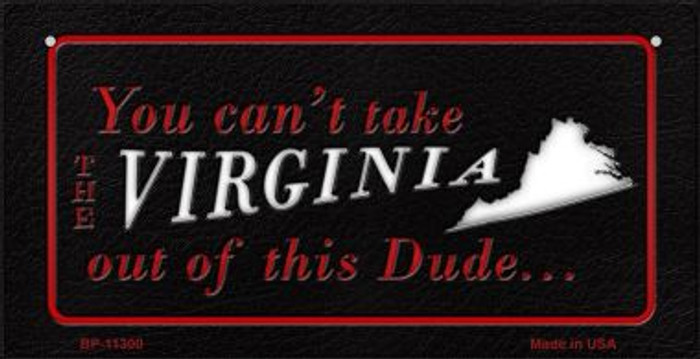 Virginia Dude Novelty Metal Bicycle Plate BP-11300