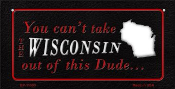 Wisconsin Dude Novelty Metal Bicycle Plate BP-11303