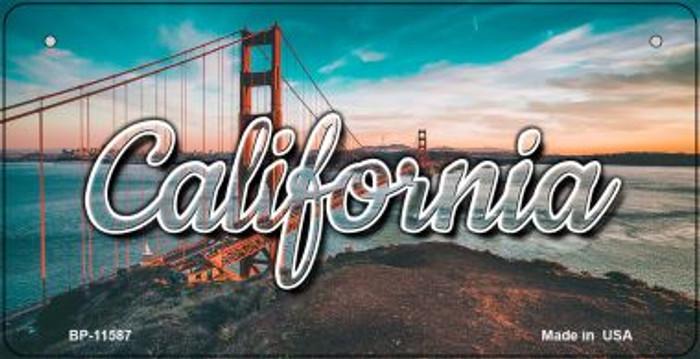 California Golden Gate Bridge Novelty Metal Bicycle Plate BP-11587