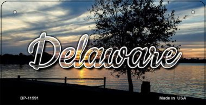 Delaware River Sunset Novelty Metal Bicycle Plate BP-11591