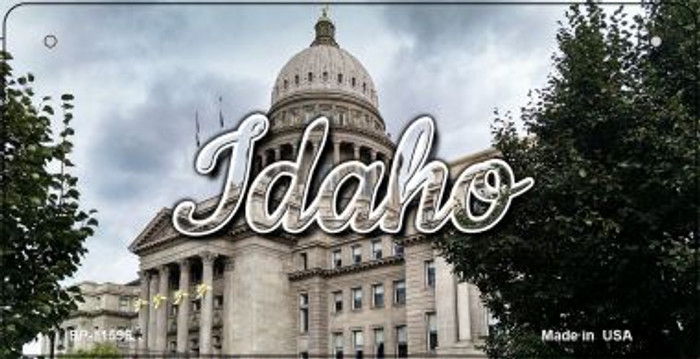 Idaho Capital Building Novelty Metal Bicycle Plate BP-11596