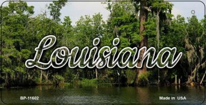 Louisiana Swamp Novelty Metal Bicycle Plate BP-11602