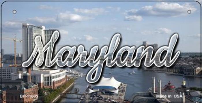 Maryland River Skyline Novelty Metal Bicycle Plate BP-11605
