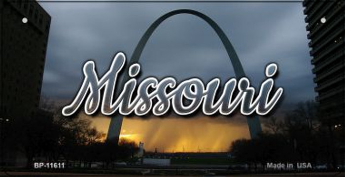 Missouri Gateway Arch Novelty Metal Bicycle Plate BP-11611