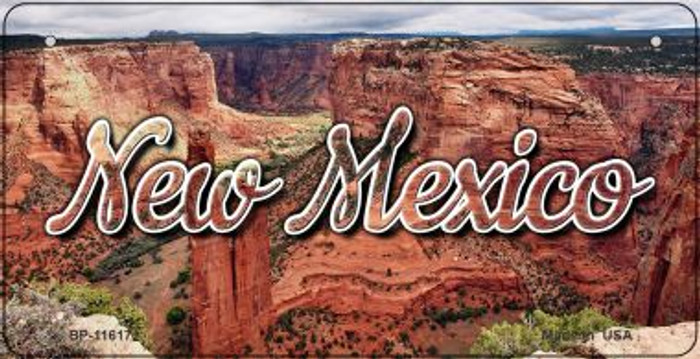 New Mexico Red Canyon Novelty Metal Bicycle Plate BP-11617