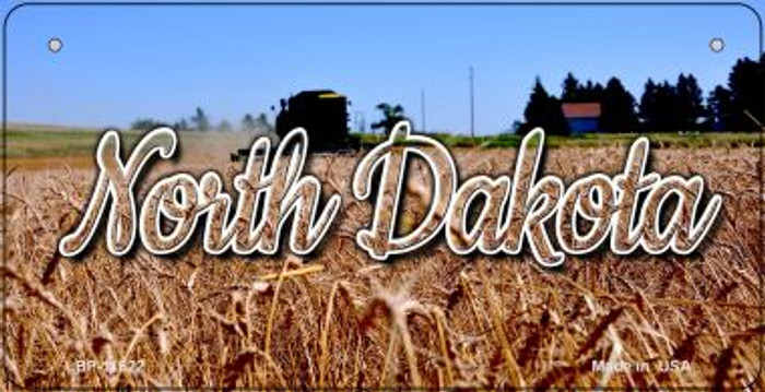North Dakota Wheat Farm Novelty Metal Bicycle Plate BP-11622