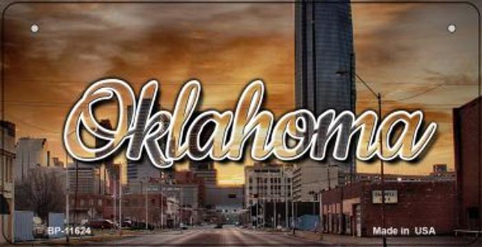 Oklahoma Sunset Skyline Novelty Metal Bicycle Plate BP-11624