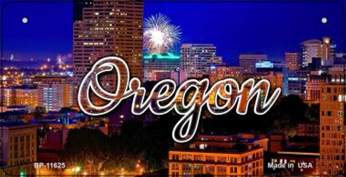 Oregon Firework City Lights Novelty Metal Bicycle Plate BP-11625