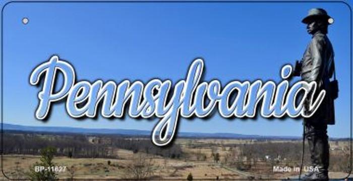 Pennsylvania Delaware City Skyline Novelty Metal Bicycle Plate BP-11627