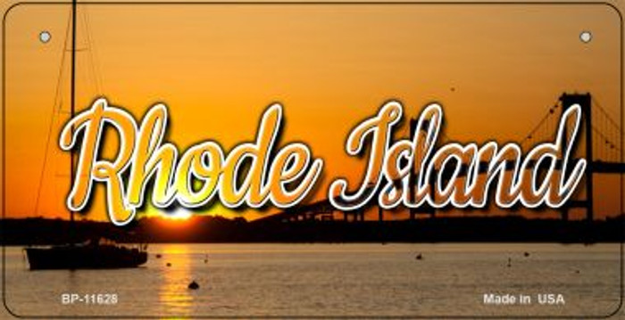Rhode Island River Sunset Novelty Metal Bicycle Plate BP-11628