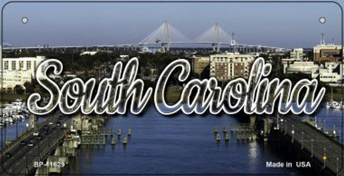South Carolina City Bridge Novelty Metal Bicycle Plate BP-11629