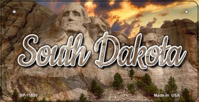South Dakota Mt Rushmore Novelty Metal Bicycle Plate BP-11630