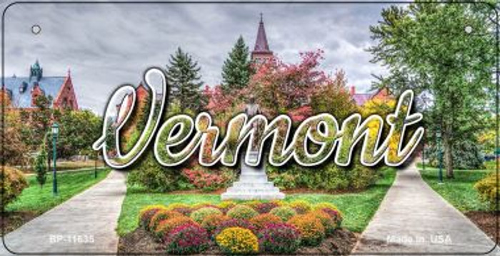 Vermont State Building Novelty Metal Bicycle Plate BP-11635
