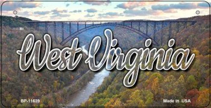 West Virginia River Bridge Novelty Metal Bicycle Plate BP-11639