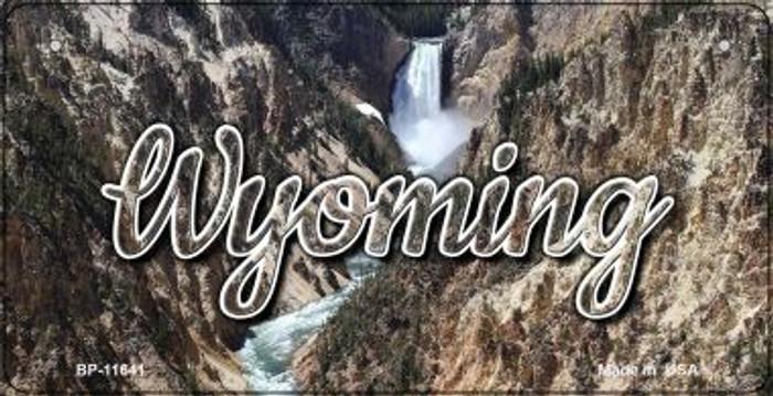 Wyoming Rocky Waterfall Novelty Metal Bicycle Plate BP-11641