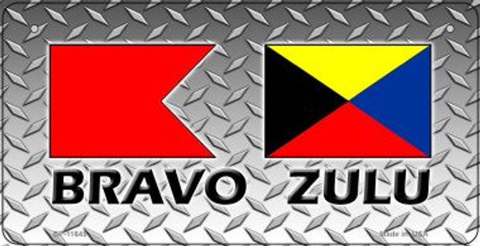 Bravo Zulu Novelty Metal Bicycle Plate BP-11645