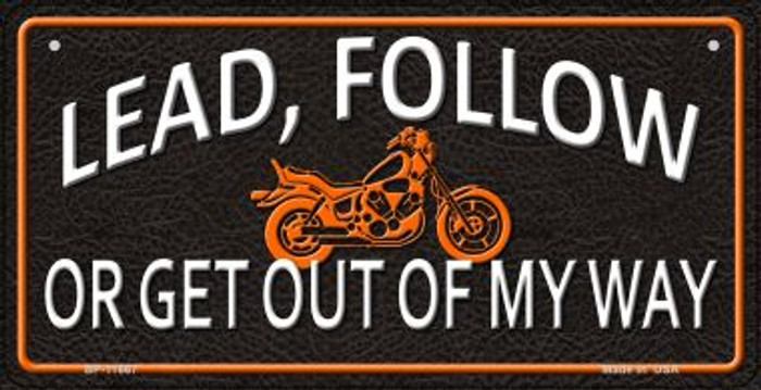 Lead Follow Novelty Metal Bicycle Plate BP-11667