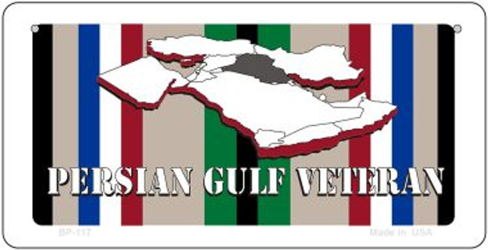 Persian Gulf Veteran Novelty Metal Bicycle Plate BP-117