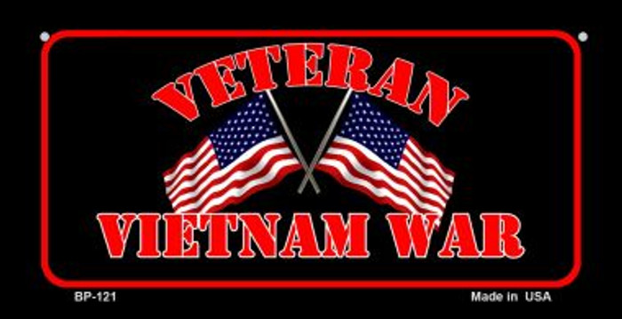 Vietnam War Veteran Novelty Metal Bicycle Plate BP-121