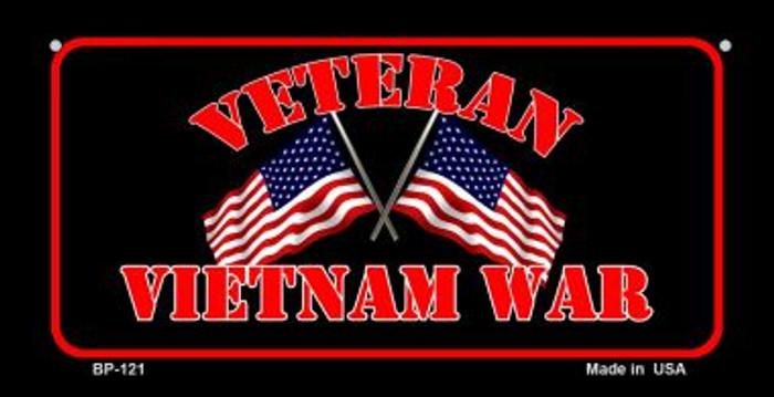 Vietnam War Veteran Novelty Metal Bicycle Plate BP-121