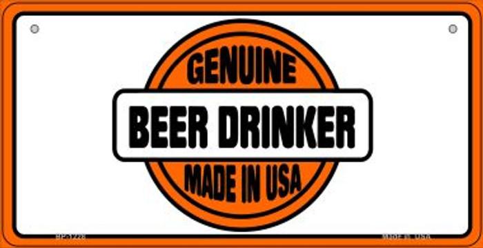 Genuine Beer Drinker Novelty Metal Bicycle Plate BP-1128