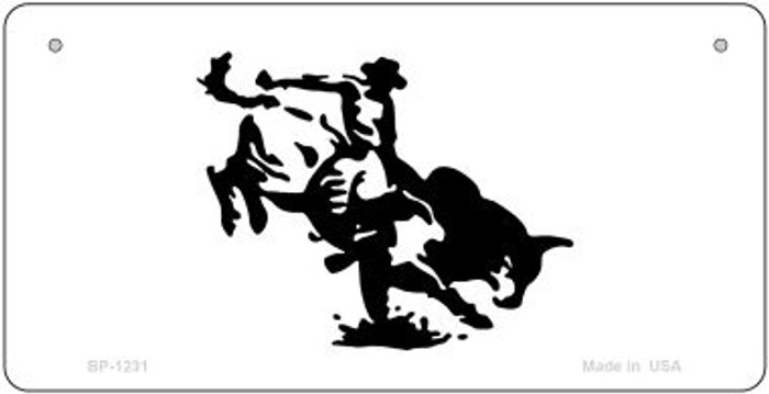 Bull Rider Novelty Metal Bicycle Plate BP-1231