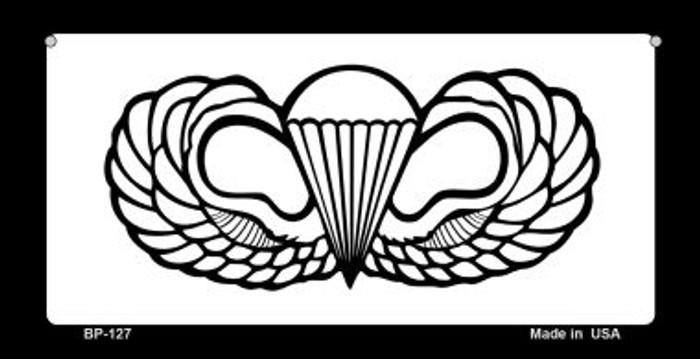 Parachute Badge Novelty Metal Bicycle Plate BP-127