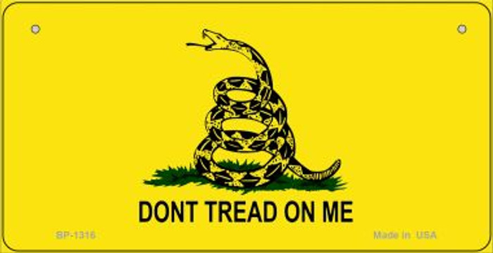 Dont Tread On Me Novelty Metal Bicycle Plate BP-1316