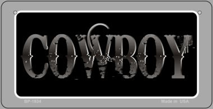 Cowboy Novelty Metal Bicycle Plate BP-1834