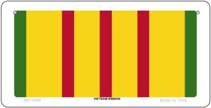 Vietnam Ribbon Novelty Metal Bicycle Plate BP-1859