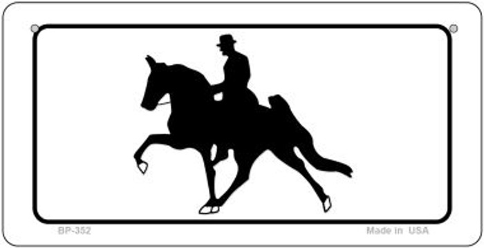 Horse With Rider Novelty Metal Bicycle Plate BP-352