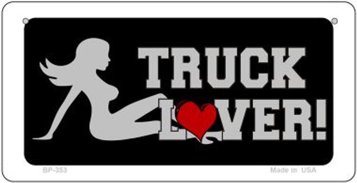 Truck Lover Girl Novelty Metal Bicycle Plate BP-353