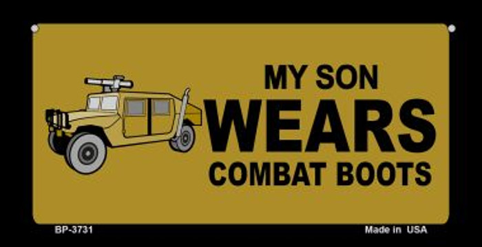 Son Wears Combat Boots Novelty Metal Bicycle Plate BP-3731