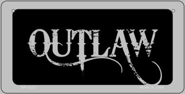 Outlaw Novelty Metal Bicycle Plate BP-4237