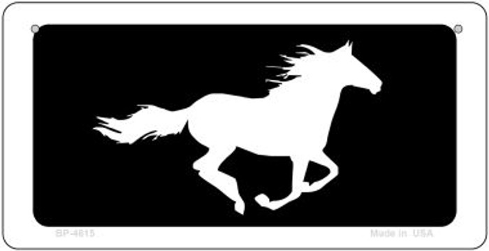 Running Horse Novelty Metal Bicycle Plate BP-4615
