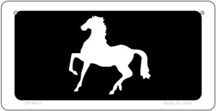 Horse Prancing Novelty Metal Bicycle Plate BP-4617