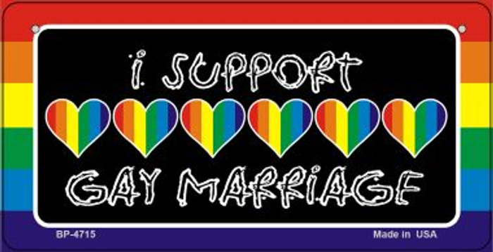 Support Gay Marriage Novelty Metal Bicycle Plate BP-4715