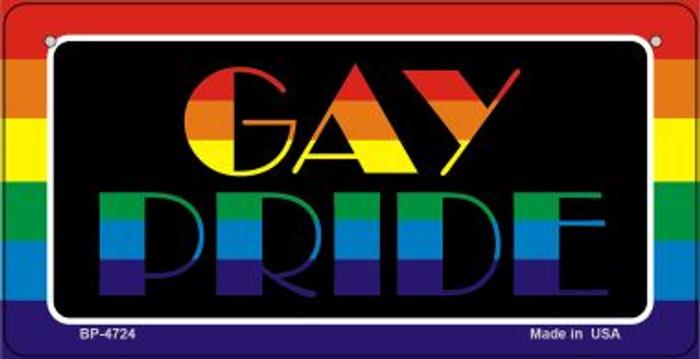 Gay Pride Rainbow  Novelty Metal Bicycle Plate BP-4724