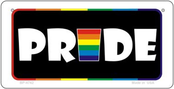 Pride Rainbow Novelty Metal Bicycle Plate BP-4742