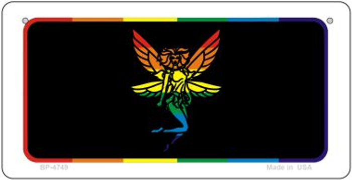 Fairy Rainbow Novelty Metal Bicycle Plate BP-4749