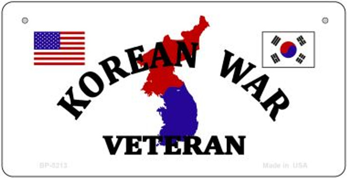 Korean War Veteran Novelty Metal Bicycle Plate BP-5213