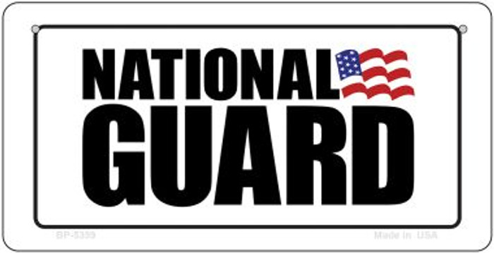 National Guard Novelty Metal Bicycle Plate BP-5359