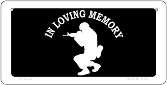 In Loving Memory Squatting Novelty Metal Bicycle Plate BP-5408