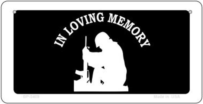 In Loving Memory Sitting Novelty Metal Bicycle Plate BP-5409