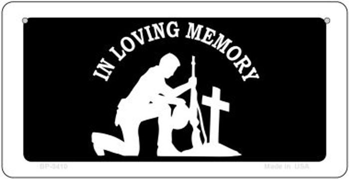 In Loving Memory Cross Novelty Metal Bicycle Plate BP-5410