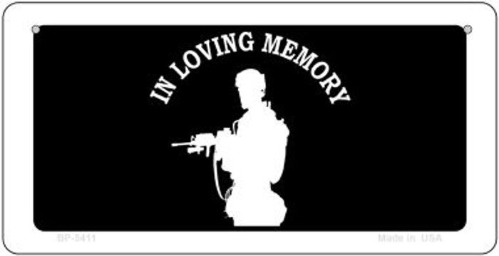 In Loving Memory Standing  Novelty Metal Bicycle Plate BP-5411