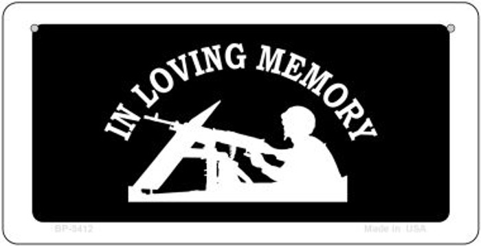 In Loving Memory Lookout Novelty Metal Bicycle Plate BP-5412