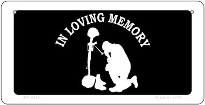 In Loving Memory Kneeling  Novelty Metal Bicycle Plate BP-5413