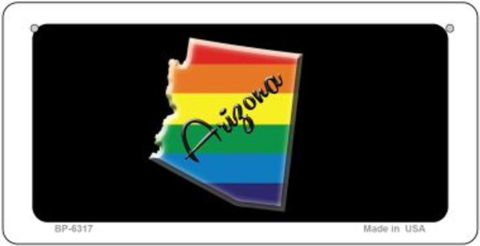 Arizona Rainbow State Novelty Metal Bicycle Plate BP-6317