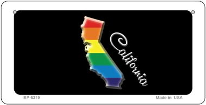 California Rainbow State Novelty Metal Bicycle Plate BP-6319